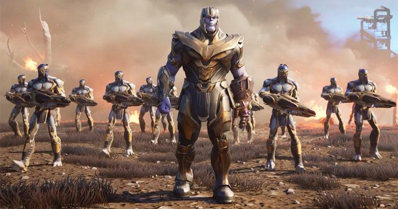 Танос и его армия в Fortnite