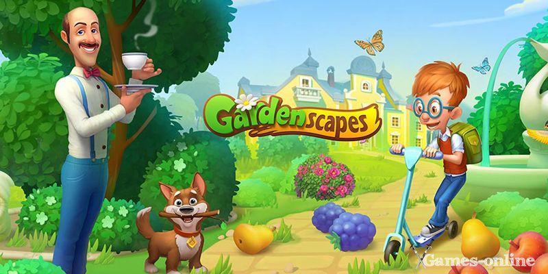 казуальная онлайн игра - Gardenscapes